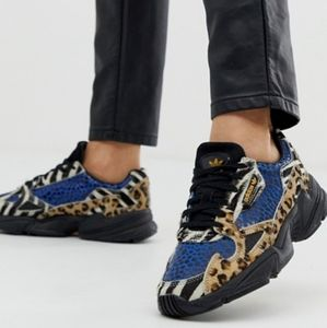 RARE limited edition adidas falcon animal print